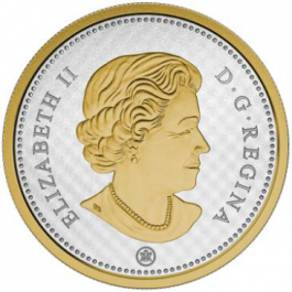 Canada 2015 Big Coin Series Gilded Proof Silver 5 oz