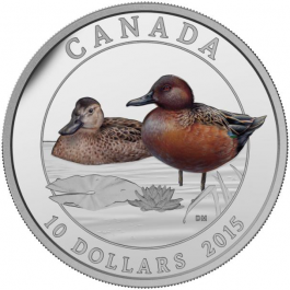 Canada 2015 Cinnamon Teal Proof Silver 1/2 oz