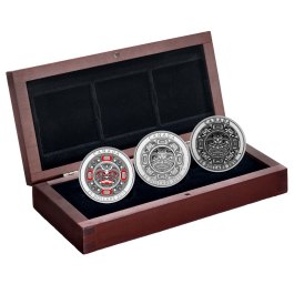 Canada 2015 Singing Moon Mask Proof Silver 3 coin set