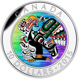 Canada 2015 First Nations Art - Mother Feeding Baby Proof Silver 1/2 oz