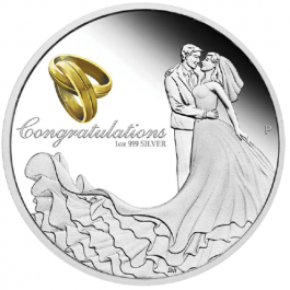 Australia 2015 Wedding Proof Silver 1 oz
