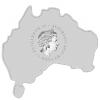 澳洲2015 地圖形 - 楔尾鵰銀幣1盎司        _33660