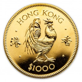 Hong Kong 1981 Gold Rooster 1/2 oz
