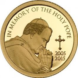 Tanzania 2015 In Memory of the Holy Pope Proof Gold 0.5 g