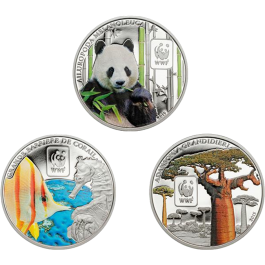Central African Rep. 2015 WWF 3-Coin Set