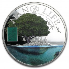 Cook Islands 2015 Nano Life Proof Silver 50 g