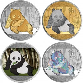 China 2015 Panda Prestige Silver Set