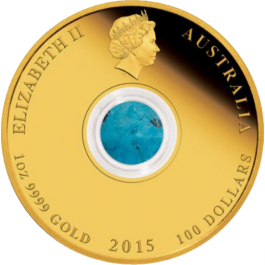 Australia 2015 Treasures of the World - North America Turquoise Proof Gold 1 oz