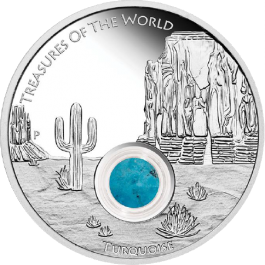 Australia 2015 Treasures of the World - North America Turquoise Proof Silver 1 oz
