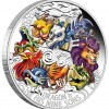圖瓦盧2015龍與他的九子彩色精鑄銀幣5盎司_35699