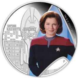 Australia 2015 Star Trek: Voyager - Captain Kathryn Janeway Silver Proof 1oz