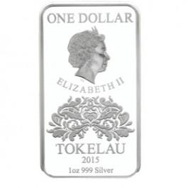 托克勞2015 4張Aces -幸運精鑄銀幣4枚套裝