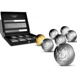 盧旺達2015貴族系列精鑄金銀幣7枚套裝