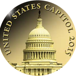 Chad 2015 Smallest Gold - US Capitol Gold 0.5g