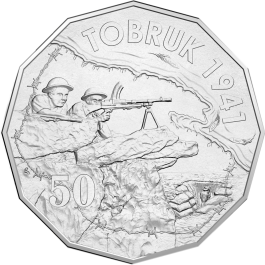 Australia 2015 Australia At War - Tobruk Silver 1/2oz