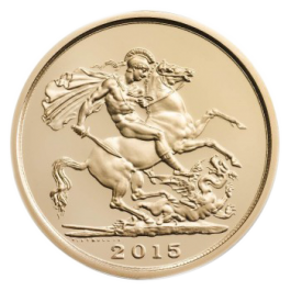 UK 2015 The Five-Sovereign Piece 1oz