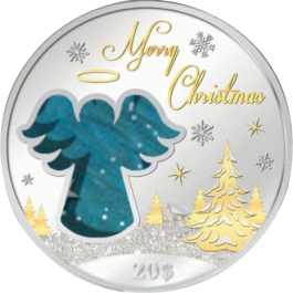 Christmas Islands 2015 Christmas Angel Proof Silver 2oz