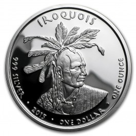 America 2015 Native State Silver Dollars - Iroquois / Skunk Pennsylvania Proof Silver 1 oz