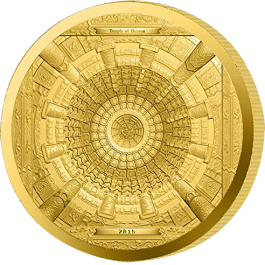 Cook Islands 2015 Temple of Heaven Proof Gold 100g
