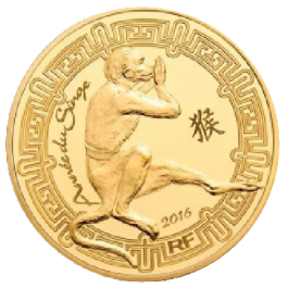 France 2016 The Year of the Monkey Proof Gold 1/4oz