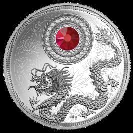 加拿大 2016 生日石 一月 精鑄銀幣 1/4盎司
