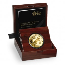 Britain 2016 Lunar Year of the Monkey Gold Proof  1 oz