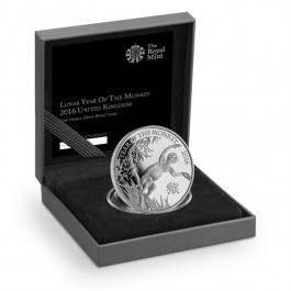 Britain 2016 Lunar Year of the Monkey Silver Proof  1 oz