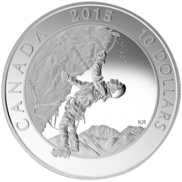 Canada 2015 Adventure Canada - Ice Climbing Proof Silver 1/2 oz
