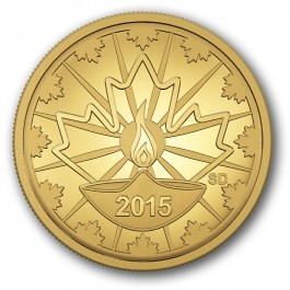 Canada 2015 Diwali - Festival of Lights Proof Gold 11g