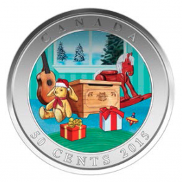 Canada 2015 LENTICULAR COIN -  HOLIDAY TOY BOX Proof Silver 1 oz