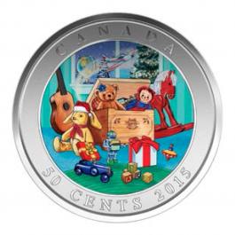 加拿大2015 聖誕玩具箱 立體光柵 銅鎳幣