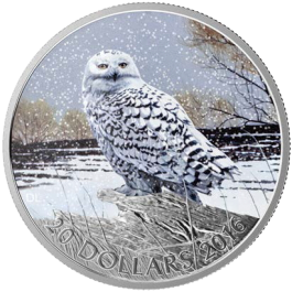 Canada 2016 SNOWY OWL Proof Silver 1 oz