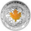 6157_Canada 2016 MAJESTIC MAPLE LEAVES WITH DRUSY STONE Proof Silver 1 oz_1