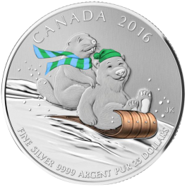 Canada 2015 WINTER FUN Proof Silver 7.96g