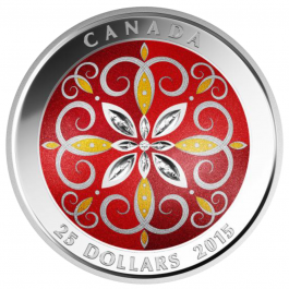 Canada 2015 CHRISTMAS ORNAMENT  Proof Silver 1 oz