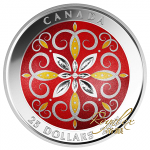 Canada 2015 CHRISTMAS ORNAMENT  Proof Silver 1 oz_37770