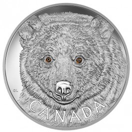 Canada 2016 In the eyes of the Spirit Bear Proof Silver Coin 1000 g