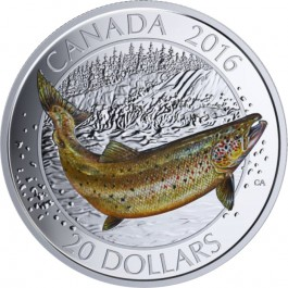 Canada 2016 Canadian Salmonids - Atlantic Salmon Proof Silver 31.83 g