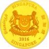 新加坡2016 猴年生肖 精鑄金幣1盎司_38420