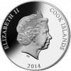 庫克群島 2014 三維玫瑰鸚鵡 精鑄銀幣20克_38540