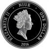 紐埃 2016 奧裡斯尼普頓 精鑄黃金印刷銀幣1/2盎司_39075