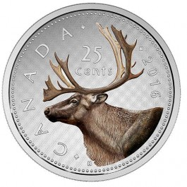 Canada 2016 BIg Coin Series - 25 - Cent Proof Silver Coin 5 oz