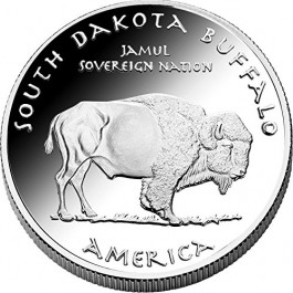 Jamul 2016 Native State Silver Dollars - Sioux/Buffalo - South Dakota Proof Silver 1 oz