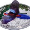 庫克群島 2014 三維玫瑰鸚鵡 精鑄銀幣20克_38542