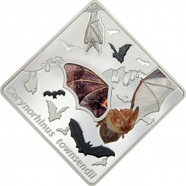 Palau 2016 The Bat (Glass wing insert) Proof Silver 50g