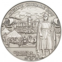 Cook Islands 2016 Eight Crusade Charles of Anjou Silver 25 g