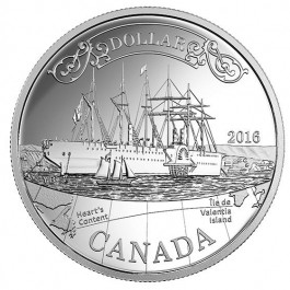 Canada 2016 150TH Anniversary of the Transatlantic Cable Proof Silver Coin 23.17 g