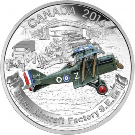 Canada 2016 Aircraft of The First World War Series: The Royal Aircraft Factory S.E.5A Proof Silver 1 oz