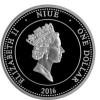 紐埃 2016 奧裡斯莫內塔 精鑄黃金印刷銀幣1/2盎司_39080
