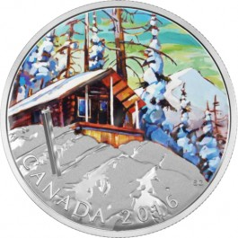 Canada 2016 Canadian Landscape Series - Ski Chalet Proof Silver 1 oz